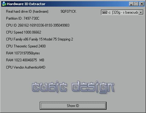 Hardware ID Extractor Screenshot