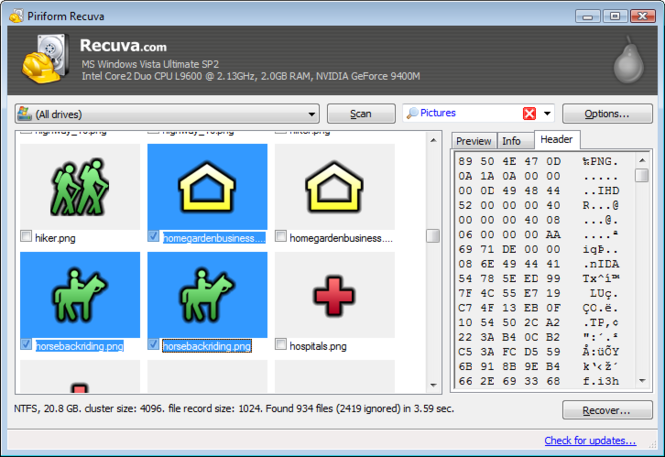 Download Recuva 1.46.919 for Recovery Data