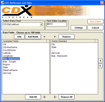 CDXZipStream Screenshot