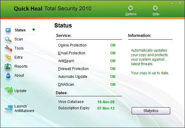 Quick Heal Total Security Screenshot