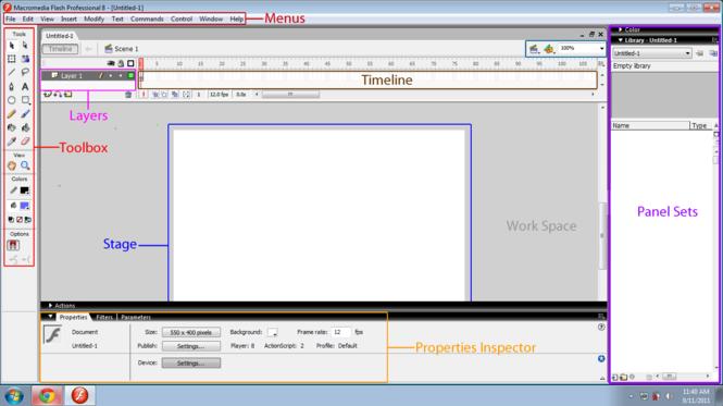 Macromedia Flash 8 Screenshot