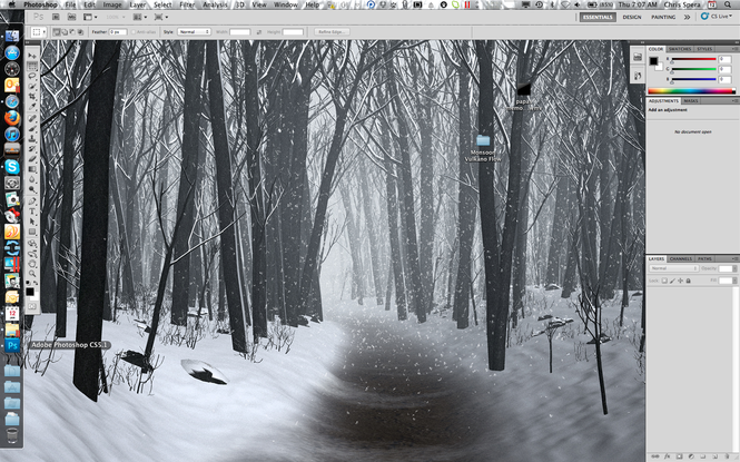 Adobe Photoshop Extended Screenshot