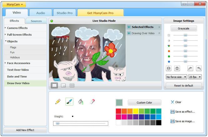 ManyCam Virtual Webcam Screenshot