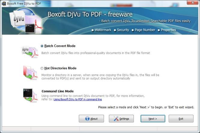 Boxoft Free DJVU to PDF freeware) Screenshot