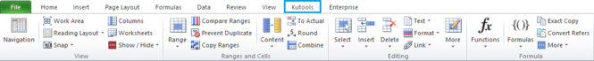KuTools for Excel Screenshot