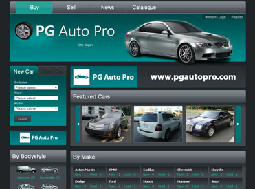 Screenshots of PG Auto Pro Software