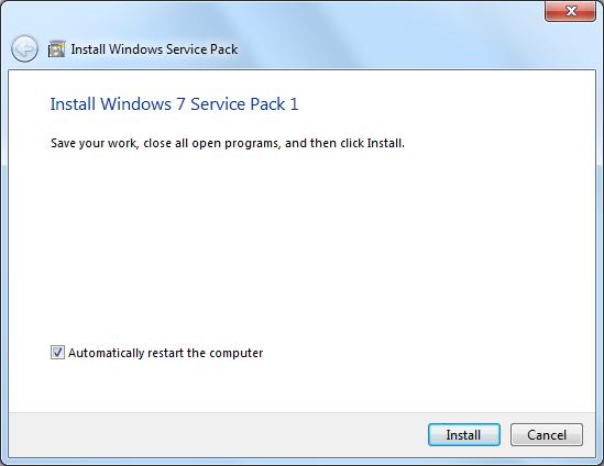 Windows 7 Service Pack 1 (SP1) Screenshot
