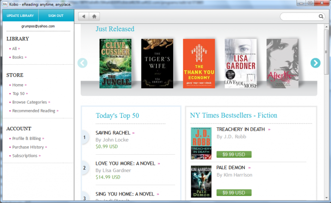 Kobo Desktop Screenshot