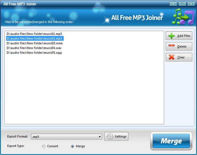 All Free MP3 Joiner Screenshot