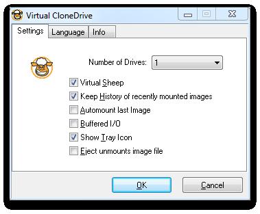 Virtual CloneDrive Screenshot