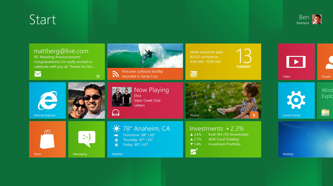 Windows 8 Developer Preview Screenshot