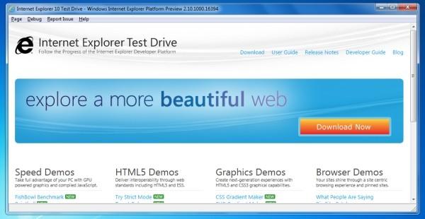 Internet Explorer 10 Screenshot 4