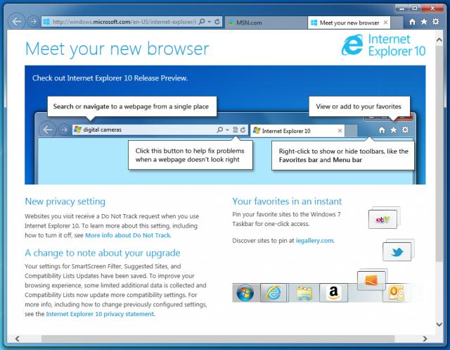 Internet Explorer 10 Screenshot 5