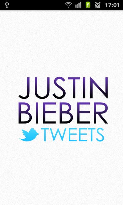 Justin Bieber Tweets Screenshot