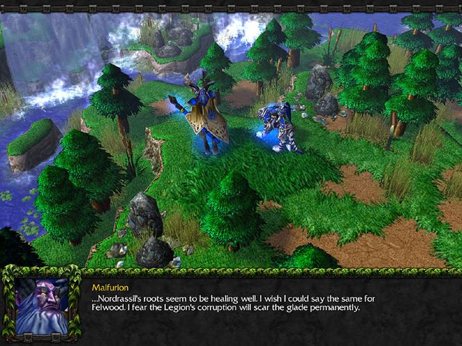 Скриншоты из игры с патчем Warcraft III: The Frozen Throne 1.12. Навигация