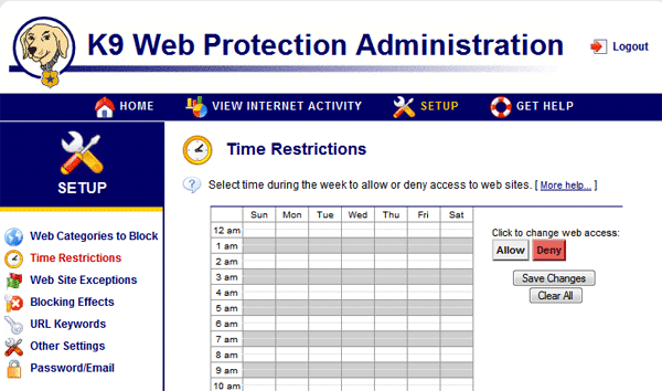 K9 Web Protection Screenshot