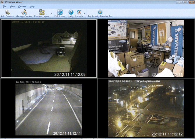 IP Camera Viewer Screenshot