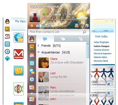 QQ International Screenshot