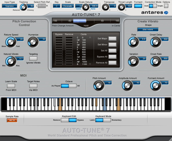 Antares Autotune VST Screenshot