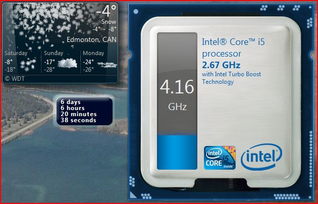 Intel Turbo Boost Technology Monitor Screenshot