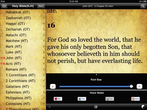 The Holy Bible King James Version Screenshot
