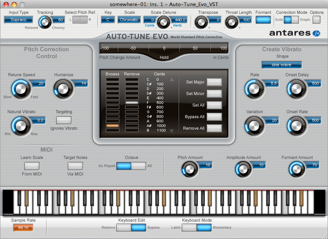 Auto-Tune Evo VST Screenshot