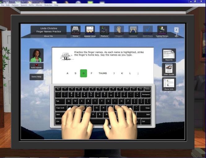 Mavis Beacon Teaches Typing Deluxe Screenshot