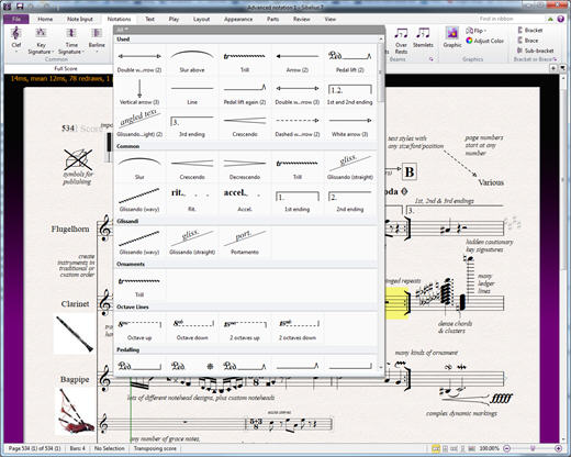 Sibelius Screenshot