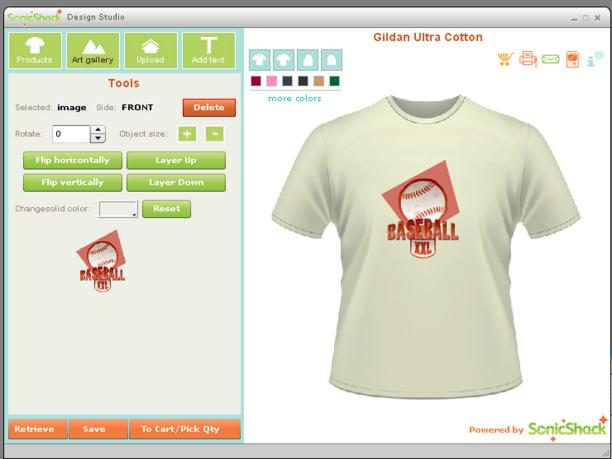 Desktop T Shirt Creator Screenshot
