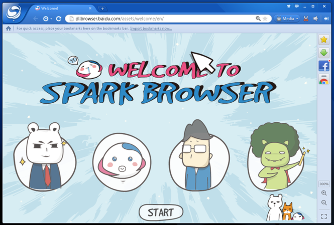 Spark Browser Screenshot