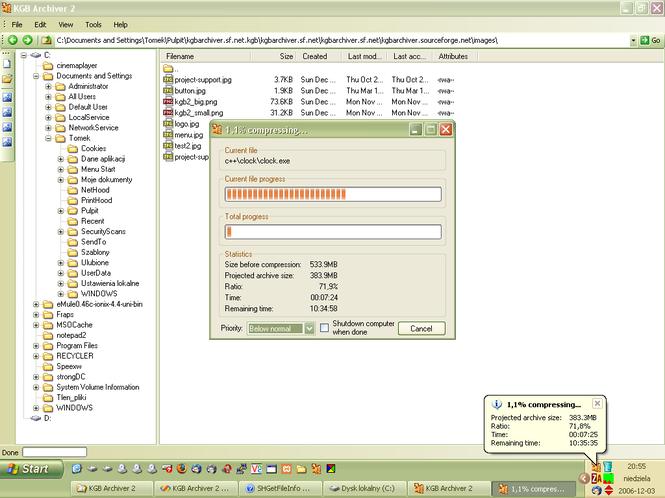 KGB Archiver Screenshot