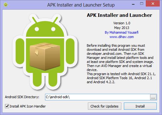 APK Installer and Launcher Screenshot