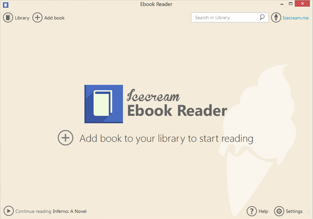 Icecream Ebook Reader Screenshot