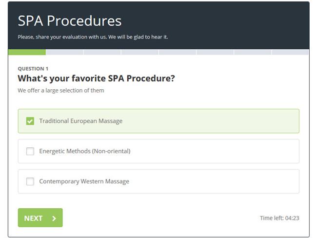 PHP Survey Script Screenshot