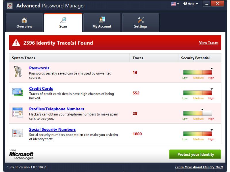 Advanced Password Manager Screenshot