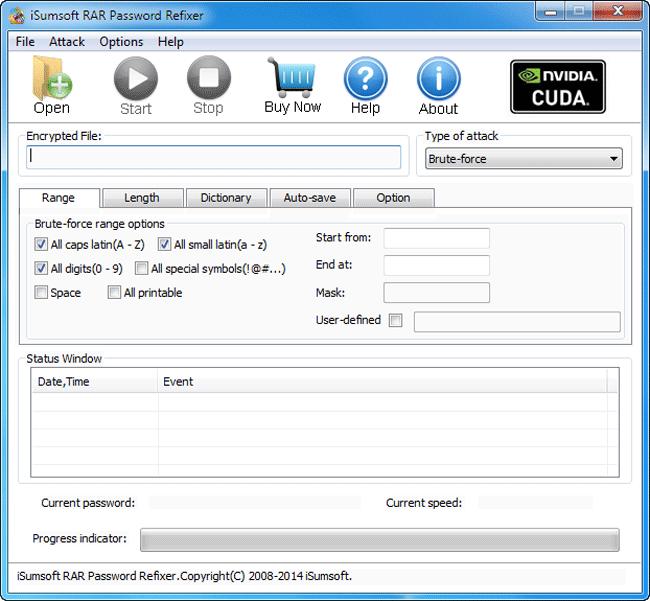 iSumsoft RAR Password Refixer Screenshot