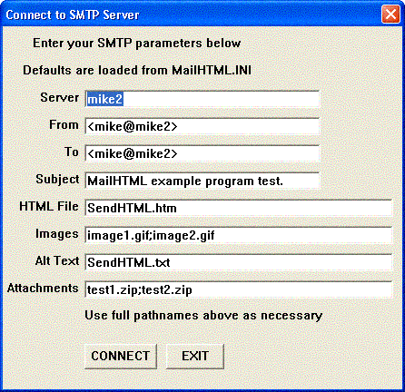 SMTP/POP3/IMAP Email Engine for dBase Screenshot