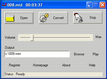 Midi to WAV Maker Screenshot