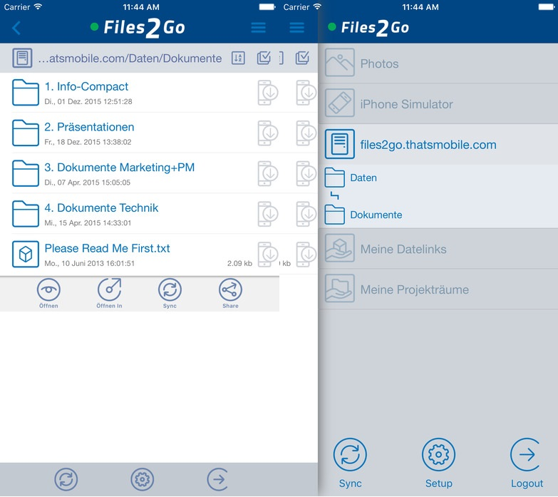 Files2Go Screenshot