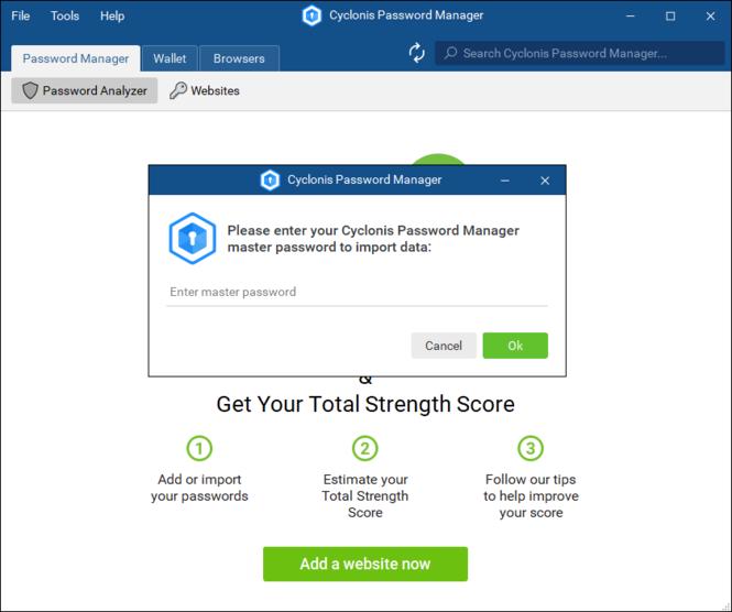 Cyclonis Password Manager Screenshot 3