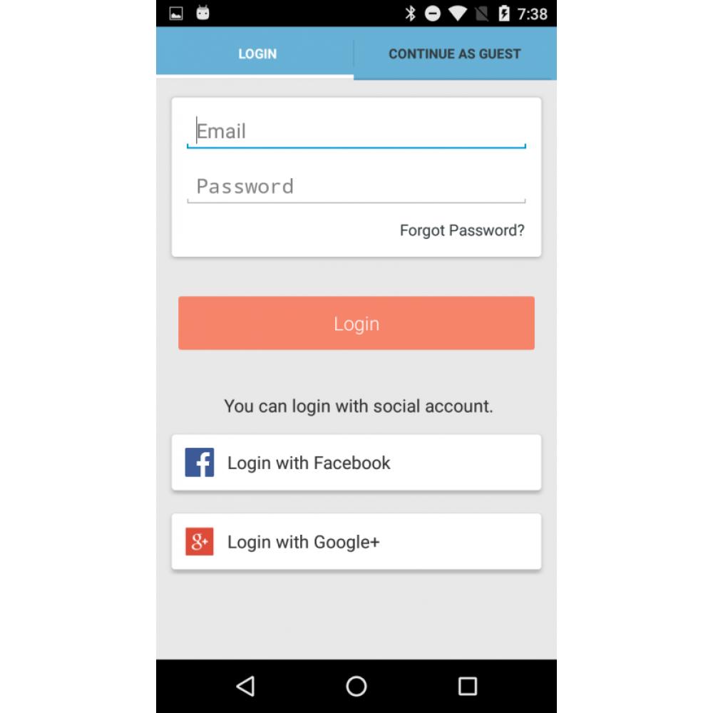 OpenCart Mobile App Builder Screenshot 2