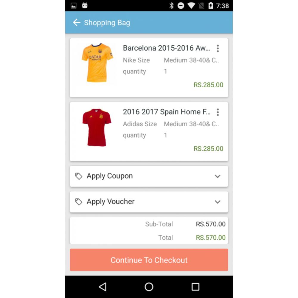 OpenCart Mobile App Builder Screenshot 3