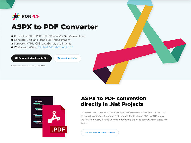 ASPX to PDF Converter Screenshot