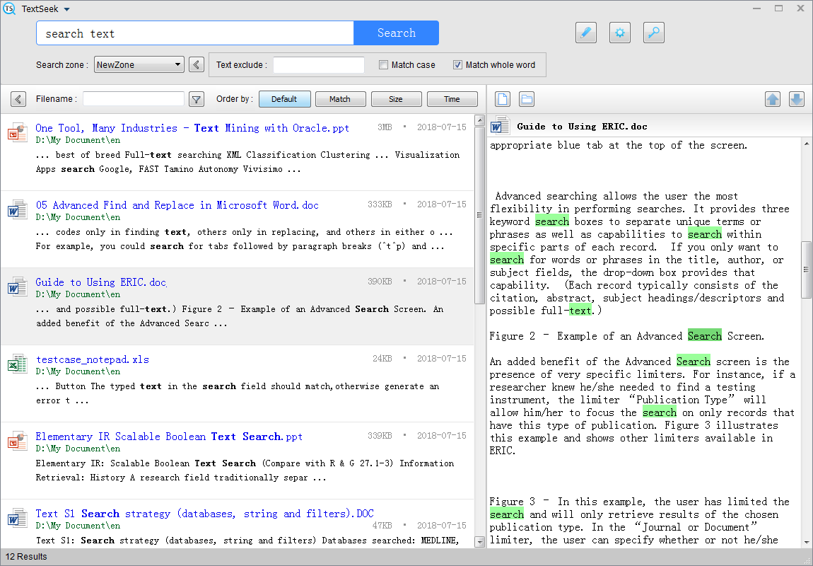 TextSeek Screenshot