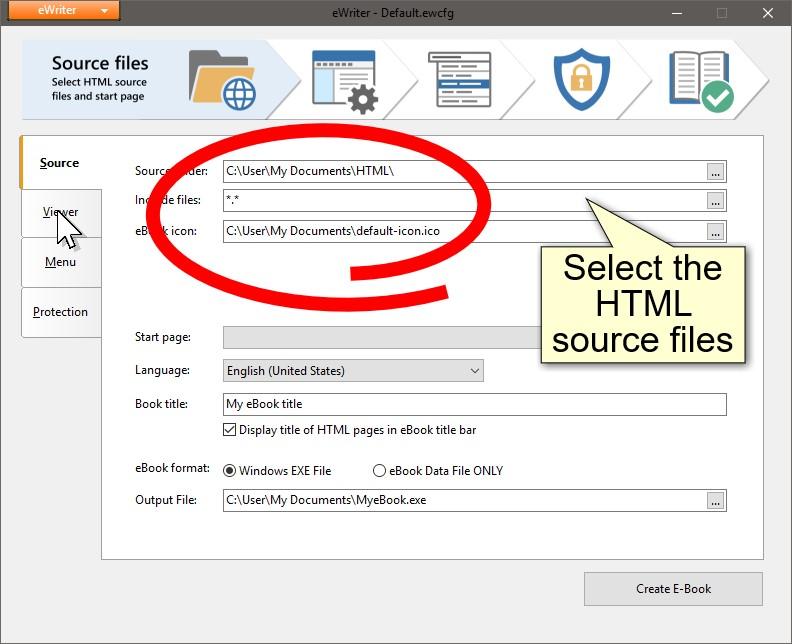 eWriter HTML Compiler Screenshot 1