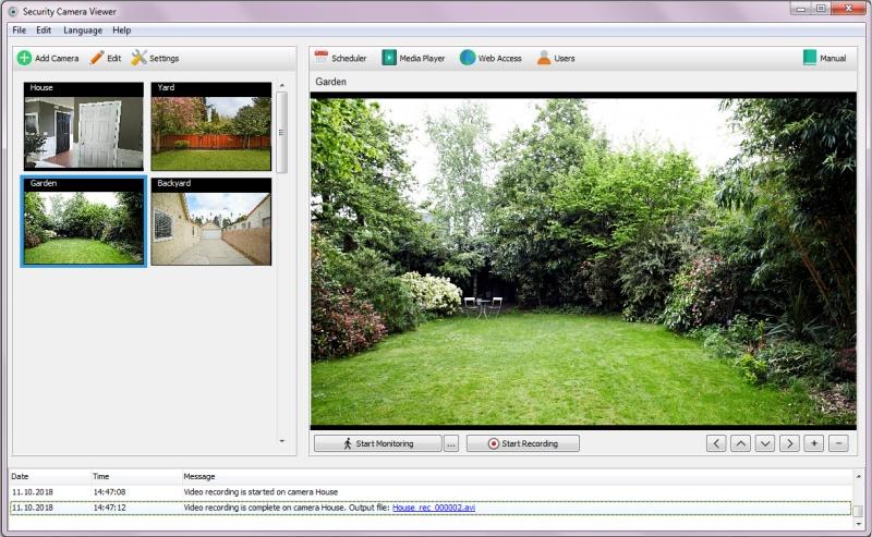 Security Camera Viewer Screenshot