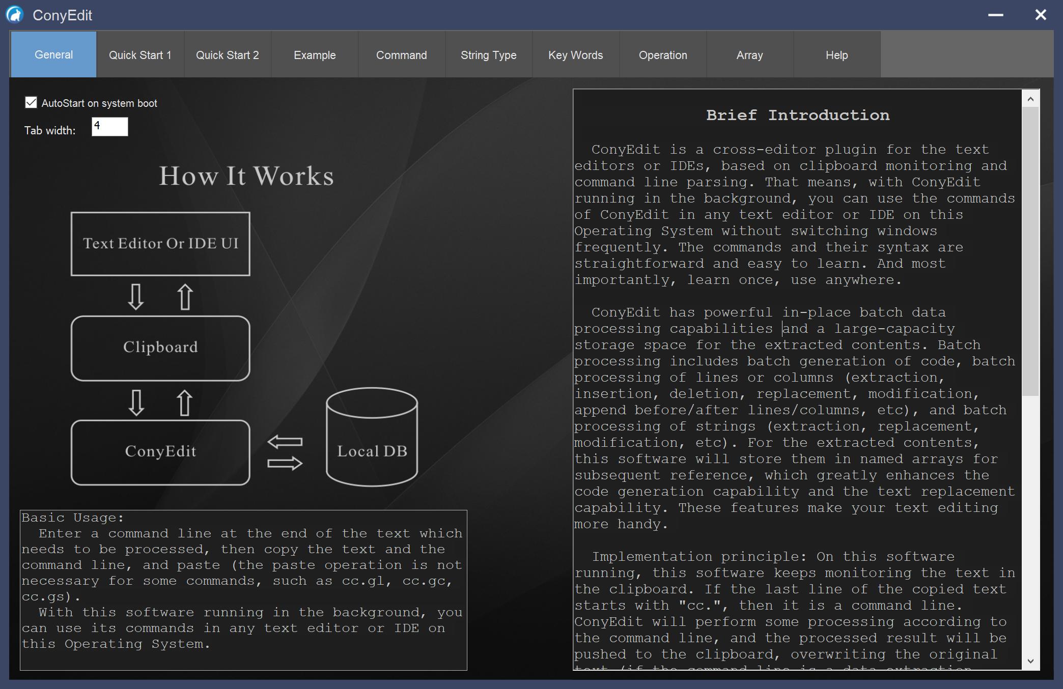 ConyEdit for Windows Screenshot