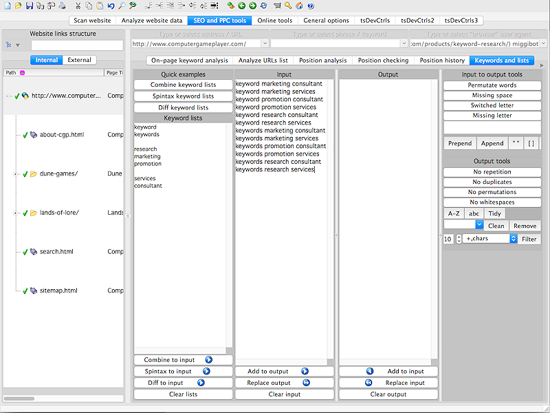 A1 Keyword Research for Mac Screenshot