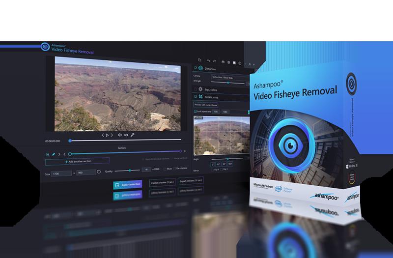 Ashampoo Video Fisheye Removal Screenshot