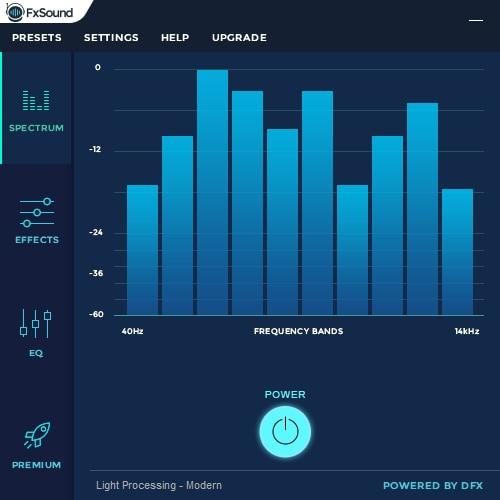 DFX Audio Enhancer Screenshot